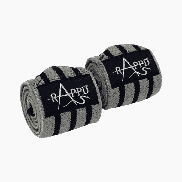 heavy duty wrist wraps grey for weightlifting and powerlifting