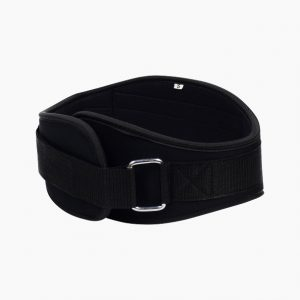 Black neoprene training belt by Rappd