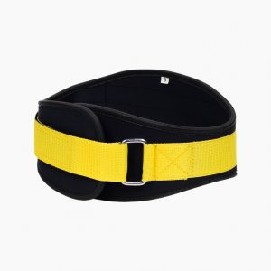Limited edition yellow neoprene training belt by Rappd
