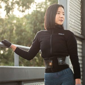 Woman wearing waist trainer by rappd