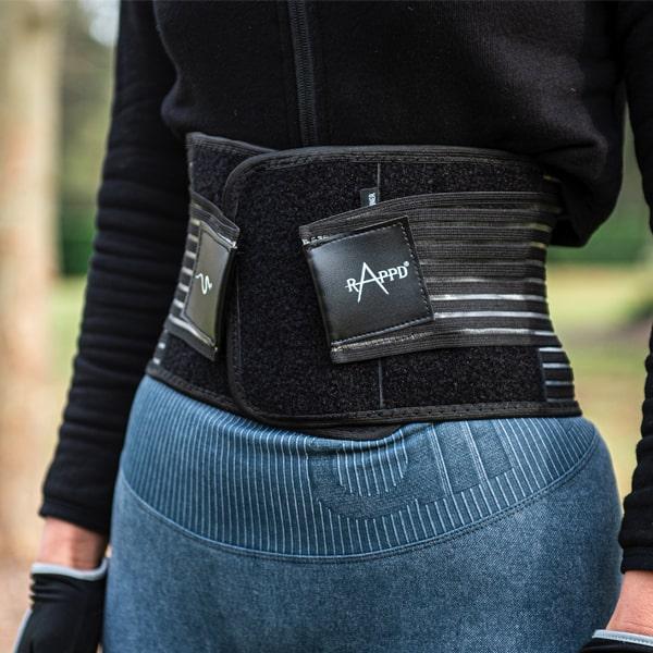 woman wearing Rappd waist trainer