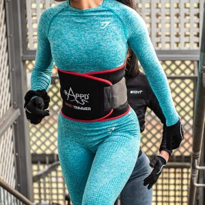 Waist trimmer on an athelete