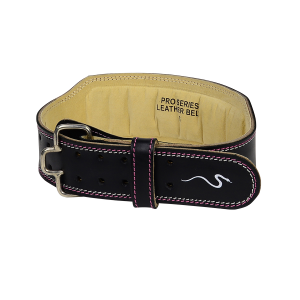 """Weight Lifting Belt 4"""" Pro Series Leather - Pink"""
