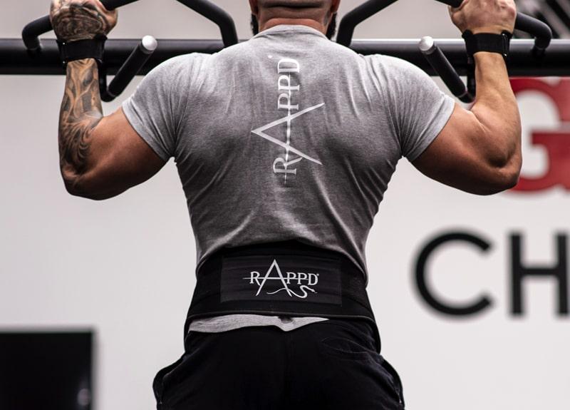 Man wearing Rappd training belt