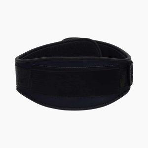 Custom black neoprene weightlifting belt