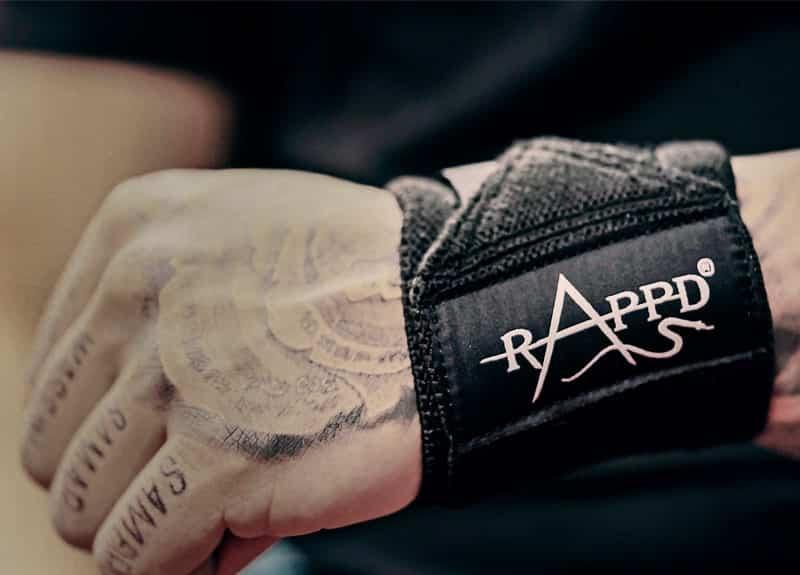 Man wearing rappd wrist wraps