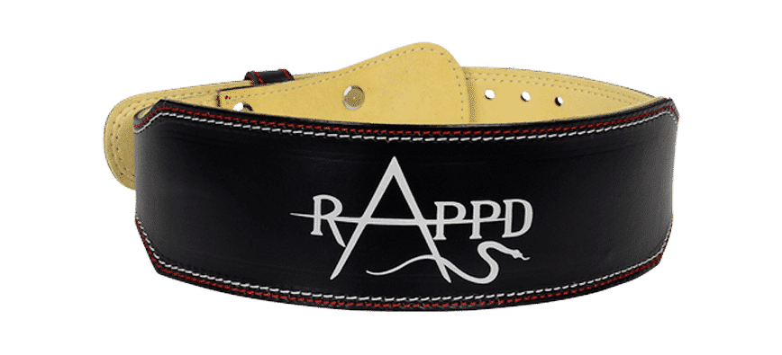 Rappd leather belt for weightlifting